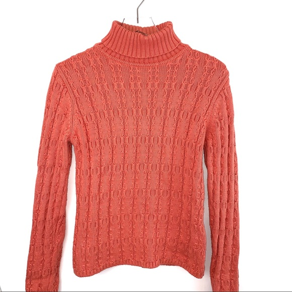 Talbots Sweaters - 🌸Talbots Peach Cable Knit Turtleneck